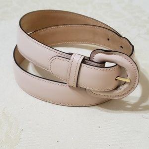 Nordstrom Genuine Leather Belt Blush Lt Pink